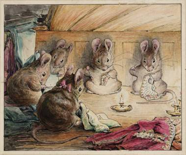 The Mice Sewing the Mayor's Coat circa 1902 by Helen Beatrix Potter 1866-1943